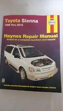 Haynes Service Repair Manual 92090 Toyota Sienna 1998 Thru 2010