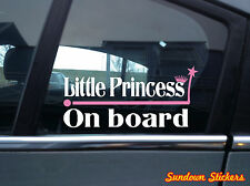 """"""" Little Princess on board """" funny baby, child, in car warning Sticker / Decal"""