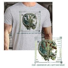 Crossfit OCD Brain Strength Intensity Workout Fitness Core sport grey Shirt