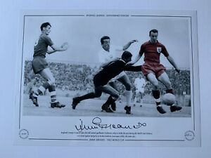 JIMMY GREAVES SIGNED PHOTO - ENGLAND 1962 WORLD CUP £19.99