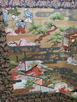 Japanese Hina Doll Miniature Furniture Screen Folding Panel Byobu