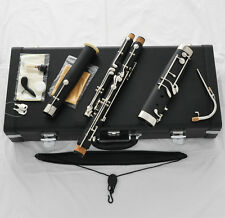 10%OFF TOP Black Bakelite Eb Bassoon Cupronickel bocals Silver key Leather Case