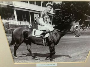 Seabiscuit with jockey Red Pollard photo 1937