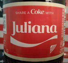 Share A Coke With Juliana 2018 Personalized Coca Cola Vanilla Bottle