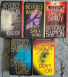 Beverly Barton Paperback 5 Book Lot Romantic Suspense Novels Free Shipping!