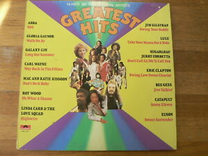 LP RECORD VINYL 14 GREATEST HITS ABBA, BEE GEES, WOOD,KISSOON,GAYNOR,CLAPTON,