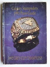 CALGARY STAMPEDERS CFL FOOTBALL 1993 MEDIA GUIDE FAN SCHEDULE BOOK MAGAZINE