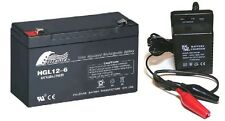 Toy Car Battery and Charger Combo 6v 12ah Battery & 6 Volt Mains Charger