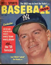 1959 Dell Sports Baseball Magazine Bob Turley Yankees Ex Condition