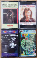 4x DAVE EDMUNDS CASSETTE TAPES LOT ROCK N ROLL POP 1970s EXCELLENT CONDITION