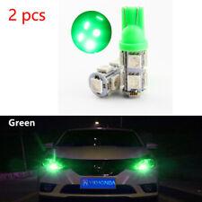 2Pcs  Green T10 9 SMD 5050 194 2825 501 Bulb Car LED Wedge Light Plate Licen