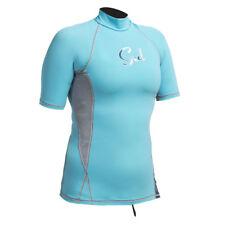 Gul Swami Ladies Rash Vest Wetsuit Surf Sail UV Protection Swim Short Sleeve 14