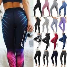 Womens High Waist Gym Leggings Pocket Fitness Seamless Yoga Pants Sportswear R1