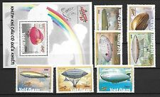 North Viet Nam Sc 2171-78 NH SET+S/S of 1990 - AIRSHIPS