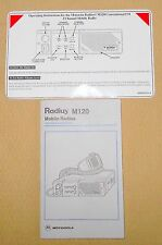 + Motorola Radius M120 Mobile Radios Operating Instruction Manual Free Shipping