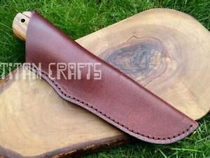 Handmade Premium Cowhide Leather Sheath 23cm for Hunting Camping Knives Gift 1MK