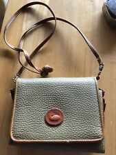 Dooney and Bourker Leather Purse brown/beige Vintage Cross Body