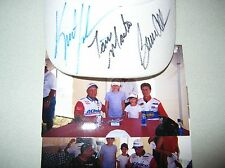 Pontiac Racing Kurt Johnson Bruce Allen Tom Martino NHRA Autograph HAT ACDELCO