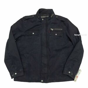 $180 Levis Military Jacket Mens Size Large Washed Cotton Two Pocket NWT