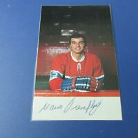 MARIO TREMBLAY 1974-75  Montreal Canadiens  postcard SIGNED AUTO plastified 1975