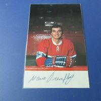 MARIO TREMBLAY 1974-75  Montreal Canadiens  postcard SIGNED AUTO plastified 1975