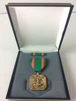 United States US Navy Anchor & Marine Award Achievement Medal Green Ribbon Pin