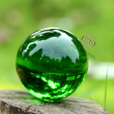 Green Glass Crystal Ball Healing Sphere Photography Props Photo With Stand  40mm