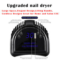 64W Wireless rechargeable  Cordless 36 LED Nail Lamp Gel Polish Nail  Dryer USA