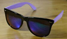 Italy Design Sunglasses Classic Style Black Frames Purple Arms Unisex