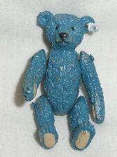 Miniatura De Oso De Peluche Steiff estaño-Azul Elliot-Nuevo En Bolsa