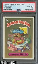 1985 Garbage Pail Kids Virus Iris Stickers PSA 10 GEM MINT