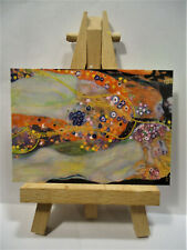 Water Snakes 2 ACEO Original PAINTING by Ray Dicken a Gustav Klimt