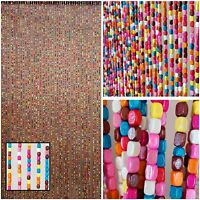 Wood Beaded Curtain-Door Beads-52 STRANDS-Rainbow Boho Bohemian Doorway Curtain