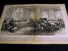 Berlin Congress Meeting in BERLIN GERMANY Hotel Radziwell 1878 Print w Story