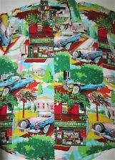 Rayon Hawaiian Shirt with a GEORGETOWN Print Men's Medium by Florida Adams EUC