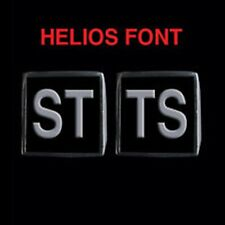 Stainless Steel STTS 2 Piece MC Club Biker Ring Set Helios font Custom size