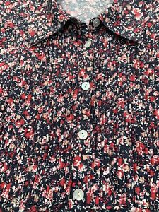 Viyella Navy & Red Shirt Size 16