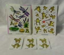 Suzy's Zoo Stickers - Frog & Dragonfly - Lot of 5