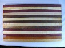 Cutting Board 11x17.5 Maple Walnut Purpleheart Chopping Block Hardwood CB6