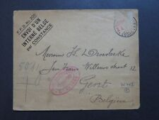 Belgium WWII Censor POW Cover to Gent / Stamp Censor Removed - Z9281