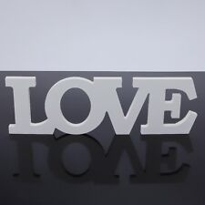 White Wooden Free Standing LOVE Letters Sign Wedding Home Decoration Creative