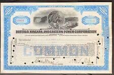 BUFFALO, NIAGARA & EASTERN POWER CORPORATION Stock 1927. Paul A. Schoellkopf SIG