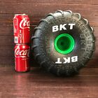 """One (1) Grave Digger Monster Jam Replacement 10"""" RC Truck Tire 1:6 Foam Wheel"""
