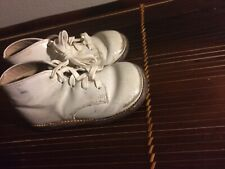 Vintage Edward's White Leather CHILD  or Doll Baby Shoes / Boots! Sz 4
