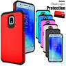 For Samsung Galaxy J3 Orbit/Star/J3 V 2018 Hard Case With Glass Screen Protector