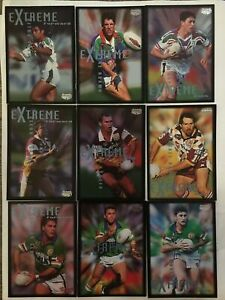 1995 NRL ARL Rugby League Extreme Cards Full Set 110 Dynamic Impact Marketing