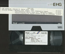 ROLLING STONES Marquee 1971 Paris 1976 LED ZEPPELIN 1969 Danish TV Live VHS Tape