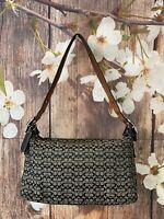 Coach Signature Canvas / Leather purse Baguette Bag No. 6332 in Black