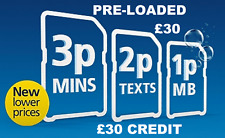 o2 Classic Pay As You Go Sim Card Triple Standard Micro Nano £30 PRE LOADED