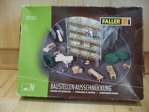 Faller 272421 - Baustellen-Ausschmückung - Maßstab N in OVP !!!